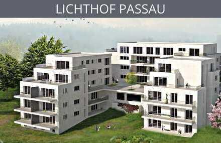 LICHTHOF PASSAU: Lichtdurchflutetes, ruhiges Penthouse mit 63qm Terrasse