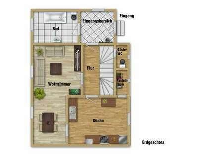 3-Zimmerwohnung in Form einer Doppelhaushälfte!