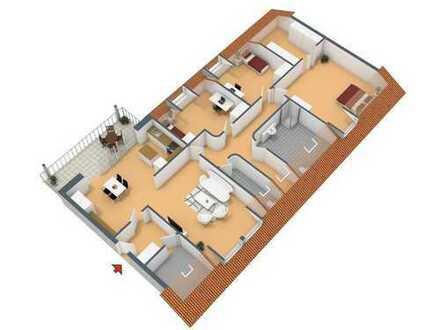 Mehr Platz geht nicht! 4-Zimmer-Dachgeschosswohnung mit Balkon auf 145 m²