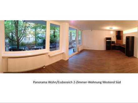 Komplett sanierte 2-ZW mit Balkon in Bestlage Nähe Palmengarten (provisionsfrei)