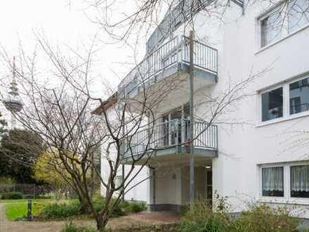 In Stadtvilla am Luisenpark - Barrierefreie Parkwohnung mit Sonnenbalkon und TG!