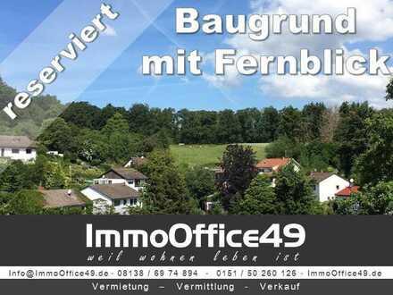 ImmoOffice49 - Grundstück in idyllischer Lage mit Fernblick