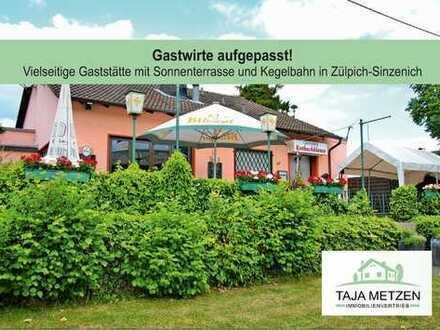 Gaststätte mit Sonnenterrasse und Kegelbahn in Zülpich-Sinzenich