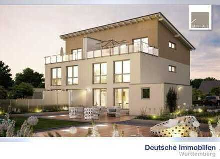 Attraktive Doppelhaushälfte mit großer Dachterrasse (inkl. Grundstück & KfW 55 & Nebenkosten)