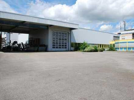 Produktionshalle / Lagerhalle 600m², Büro 400m², Sozialtrakt, Außenlager, mögliche Wohnung