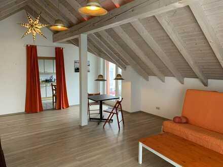 Romantische 3 Zi.-Dachwohnung mit Südbalkon und freiem Blick über Emmingen