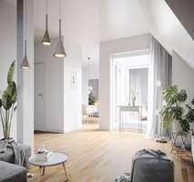 Lichtdurchflutete 4-Zimmer-Dachgeschosswohnung mit Loggia