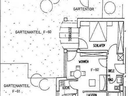 2,5-Zi.-Wohnung mit exklusivem Garten am Stadtrand Ost