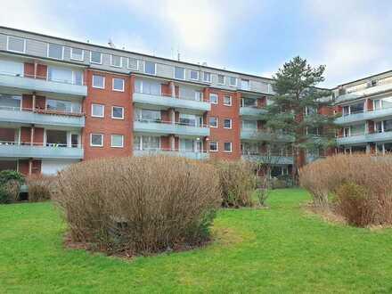 Zentrale ETW mit Balkon und Blick ins Grüne!
