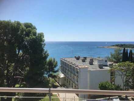 Banjole, Luxus-Wohnung am Meer, grosse Terrasse mit fantastischem Meerblick