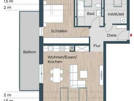 Ideal geschnitten, 2,5 Zi-Dachwohnung, geräumiges Bad, Westbalkon, Aufzug