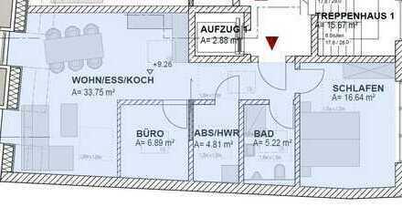 Hochwertige Penthousewohnung (Nr.18), ca.71,37 m2-zentrale und ruhige Lage - Arztpraxis Im Haus!