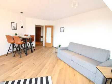 voll möblierte 2 Zimmer Wohnung mit Balkon u. Stellplatz in ruhiger Zentrumslage