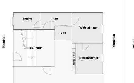 Schöne 2-Zimmer-Hochparterre-Wohnung in bester Lage