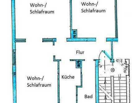 3-Raumwohnung WG-geeignet und stadtnah