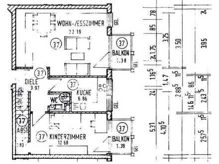 Gemütliche 5-Zimmer MaisonetteWohnung mit 2 Balkonen