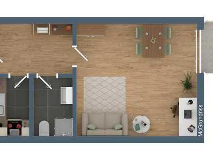 Gepflegte 1,5-Raum-Wohnung mit Balkon und Einbauküche in Freiburg