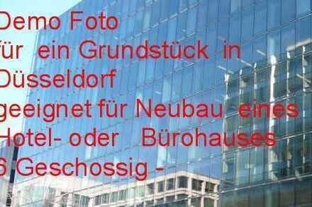 Grundstück mit Planung - HOTEL- Airporthotel, - 6 geschossig *** in Düsseldorf ***