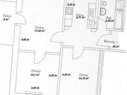 3 Zi Wohnung, 63m²
