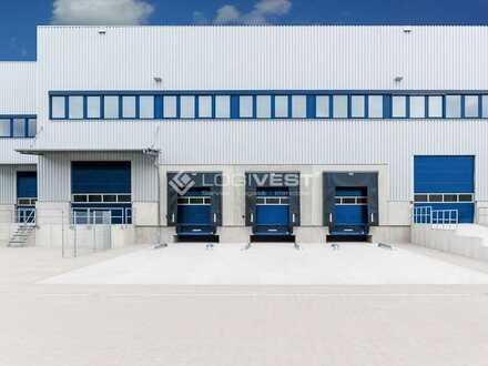 Projektierter Neubau einer Lager-, Logistik-und Produktionshalle