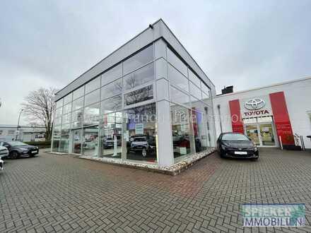 """Kfz-Niederlassung (""""Autohaus"""") mit Verkaufshalle in aktueller CI-Architektur, Werkstätten, Lager usw"""