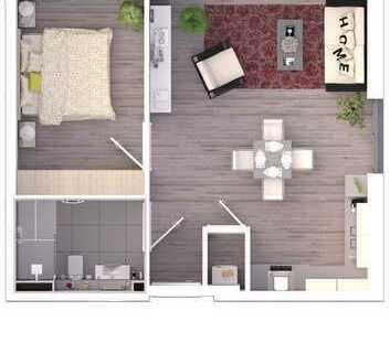 2-Zimmer-Erdgeschosswohnung (B3)