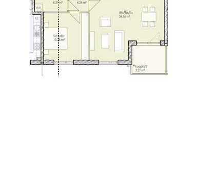 Sonnige 2-Zimmer Wohnung zu vermieten (Wh 12)