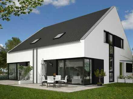 Moderne Doppelhaushäfte in Top-Lage! massiv und schlüsselfertig gebaut! Süd-West-Garten!