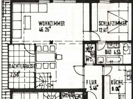 Sanierte 5-Raum-Maisonette-Wohnung mit Balkon und Einbauküche in Ditzingen-Heimerdingen
