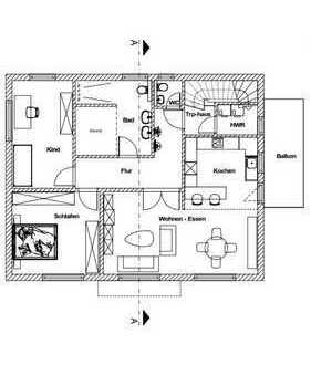 Erstbezug mit Balkon + Garten: attraktive 3-Zimmer-Wohnung in Löhne