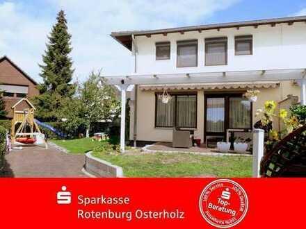 Bremen Farge-Rekum: Familienfreundliche Doppelhaushälfte mit Vollkeller nahe der Weser in ruhiger S