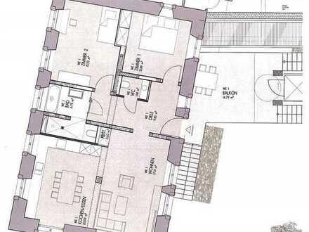 Sehr hochwertig sanierte 3-Zimmer-Obergeschoss-Wohnung mit großem Balkon