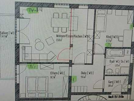 3 Zimmer Wohnung in 89312 Günzburg