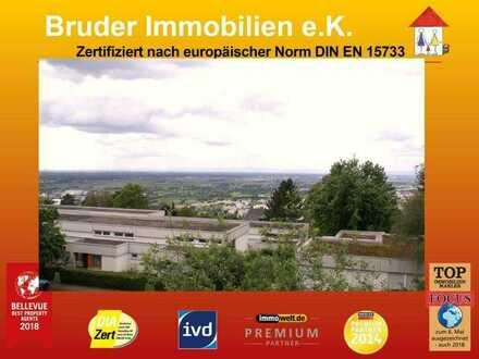 HD-Boxberg: 3 ZKB, Blick übers Tal vom großen Balkon, keine K-Prov.