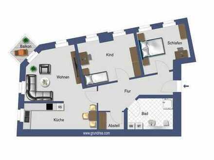 Neu sanierte 3-Raumwohnung mit Balkon und Aufzug