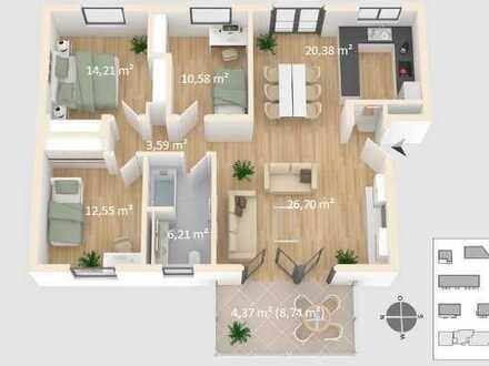 Niedrigenergie Parkwohnung mit zwei (elektro)TG-Stellplätzen