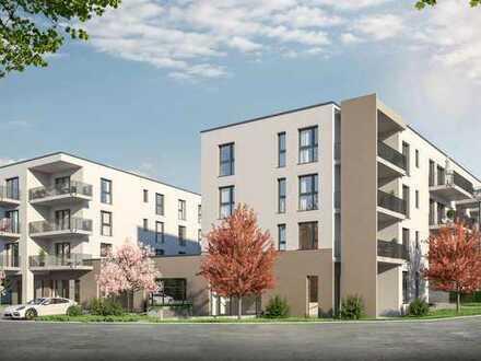 Wohnen im naturnahen Kahl am Main! Moderne 2-Zimmer-Wohnung mit offenem Koch-/Ess- und Wohnbereich