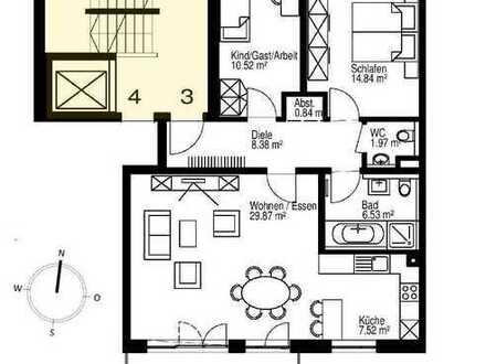 Großzügige 3-Zimmer-Wohnung mit Südbalkon zum Park