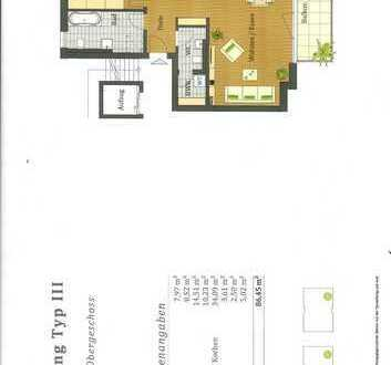 Erstbezug: freundliche 3-Zimmer-Wohnung mit Balkon in Gelnhausen