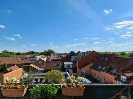 +Über den Dächern von Göttingen+Penthouse+ Fußgängerzone+Atrium+ 157 qm+3 Zimmer+