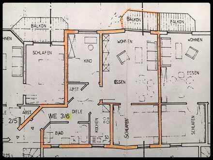 Ruhige 3 Zimmer Wohnung mit Balkon u Tiefgarage in ruhiger Lage