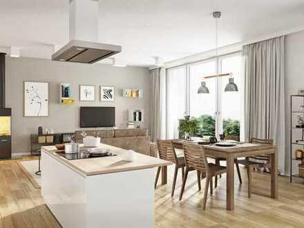 NEUBAU • 50m² Wohnküche • Bad & Duschbad • Fußbodenheizung • am Volkspark mit EBK und Balkon