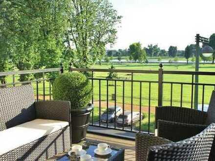 Luxuriöse möblierte 4 Zimmer Wohnung mit Rheinblick in Golzheim mit Klimaanlage
