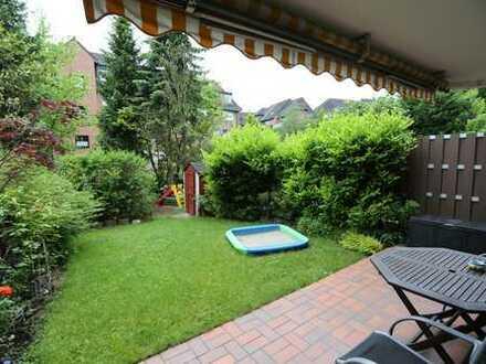 Gepflegte 4,5 Raum-Wohnung mit eigenem Garten u. Terrasse