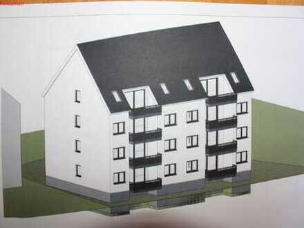 Erdgschosswohnung im Neubau nach KFW-55 und großzügigen Balkon