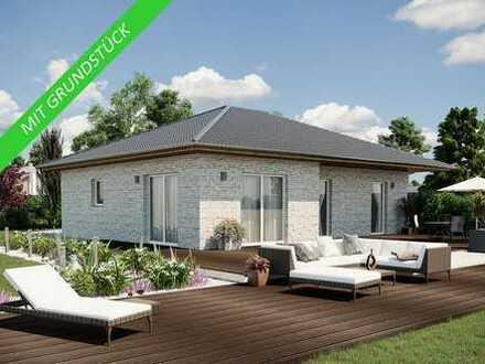 Ich werde in Rötha gebaut!  Winkel- Bungalow 97 m² inkl. Bodenplatte und Grundstück...