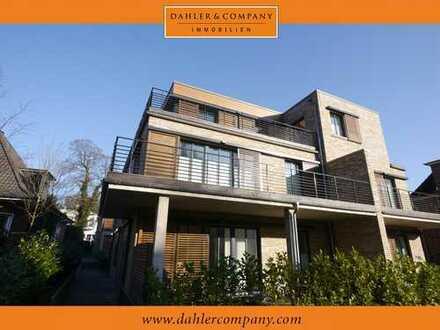 Moderne und lichtdurchflutete Neubau-Endetage und Obergeschoss Wohnung