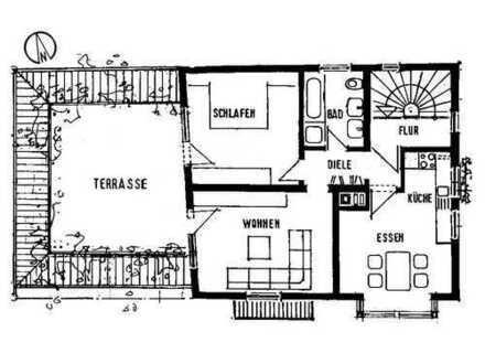 Helle 2,5-Zimmer-Wohnung mit großer Terrasse und EBK in Schönaich