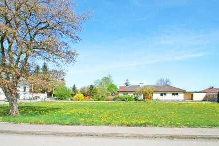 Großzügig, sonnig, zentral – einzigartiges Wohnbaugrundstück in Untermeitingen