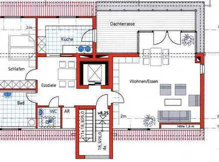 Exklusive, 2-Zimmer-Penthouse-Wohnung mit Dachterrasse, Erlangen